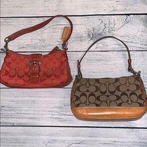 Two Vintage Coach Handbags